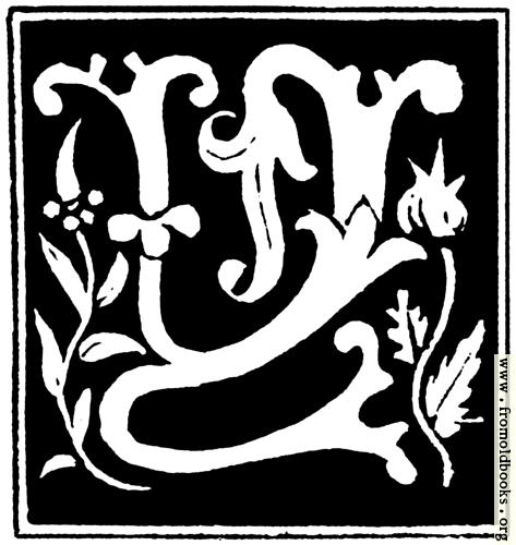 """[Picture: Decorative initial letter """"Y"""" from 16th Century]"""