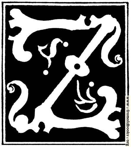 """[Picture: Decorative initial letter """"Z"""" from 16th Century]"""