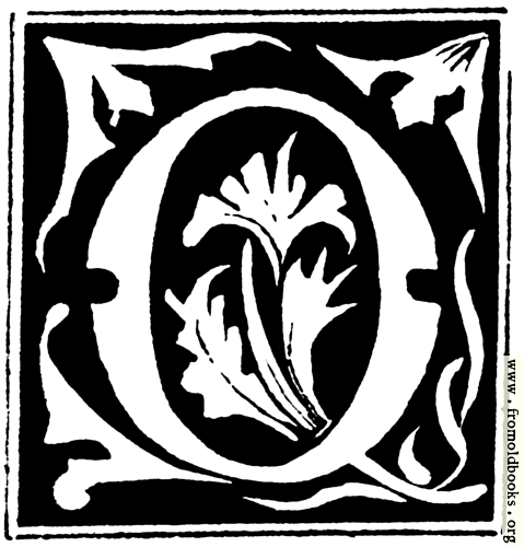 """[Picture: Decorative initial letter """"Q"""" from 16th Century]"""