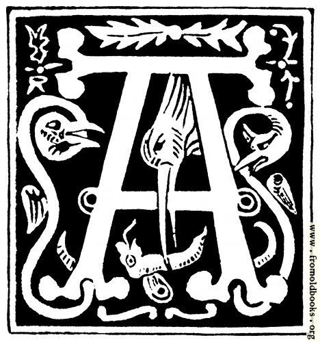 "[Picture: Decorative initial letter ""A"" from 16th Century]"