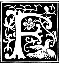 """[Picture: Decorative initial letter """"F"""" from 16th Century]"""