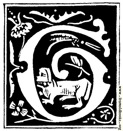 """[Picture: Decorative initial letter """"G"""" from 16th Century]"""