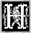 """[Picture: Decorative initial letter """"H"""" from 16th Century]"""