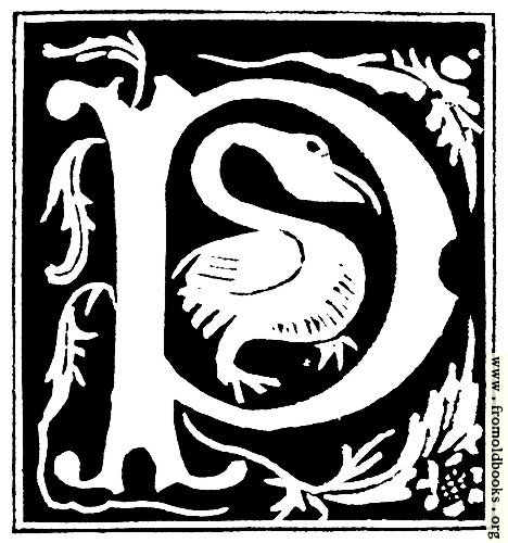 """[Picture: Decorative initial letter """"P"""" from 16th Century]"""