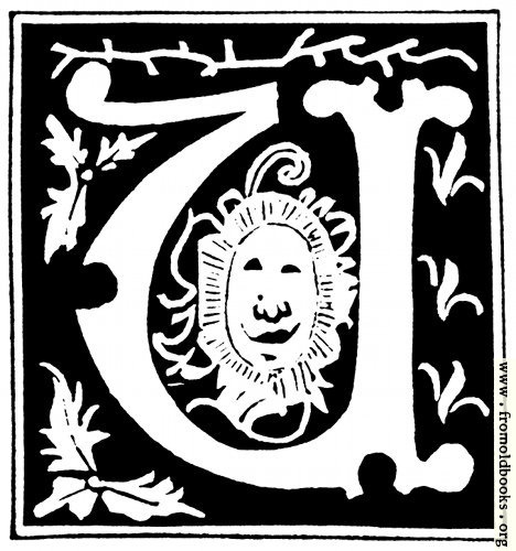 "[Picture: Decorative initial letter ""U"" from 16th Century]"