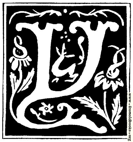 "[Picture: Decorative initial letter ""Y"" from 16th Century]"