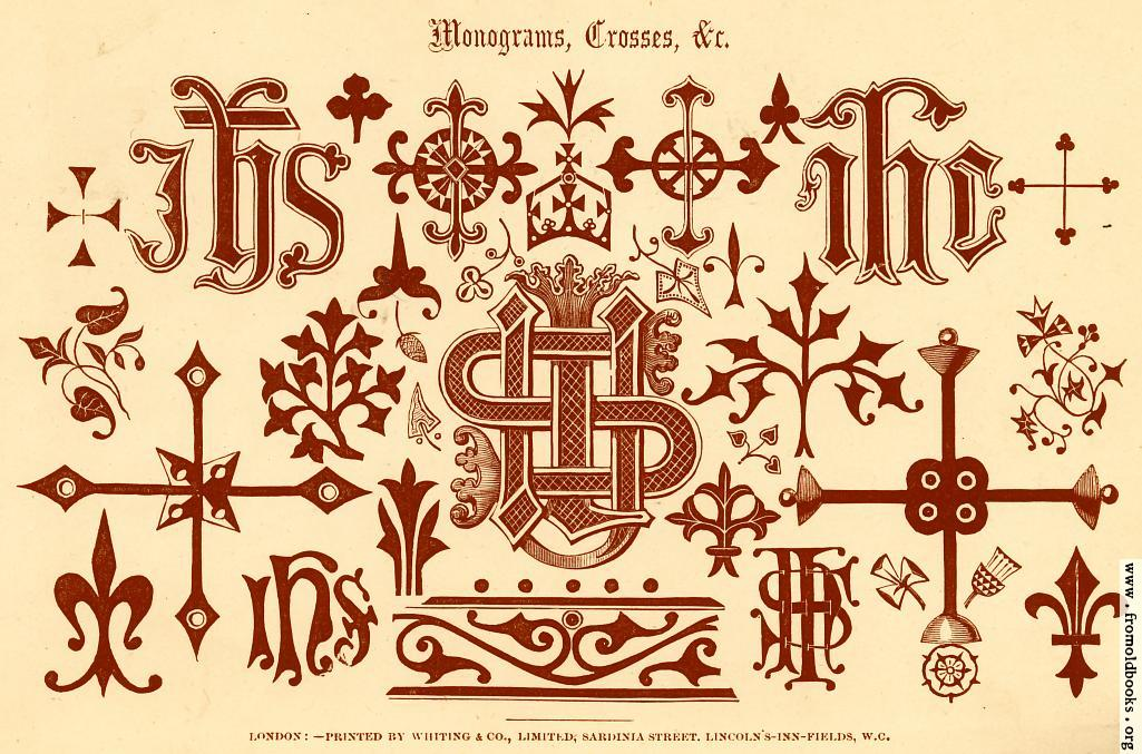 [Picture: 53.—Mongrams, Crosses, etc. [overview]]