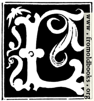 [picture: Decorative initial letter ``L'' from 16th Century]