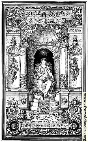 [Picture: Titlepage from Works of Goethe]