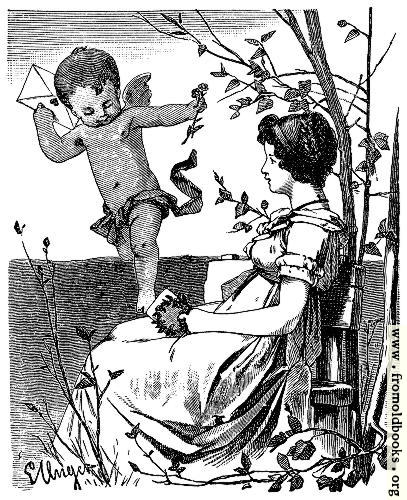 [Picture: Cherub delivering a love-letter]