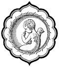 [picture: Cherub in Persian-Style Frame]