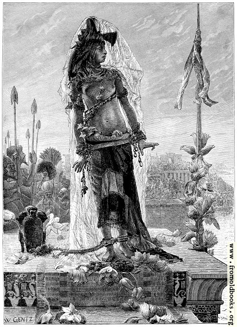 [Picture: The Sacrifice to the Nile.]