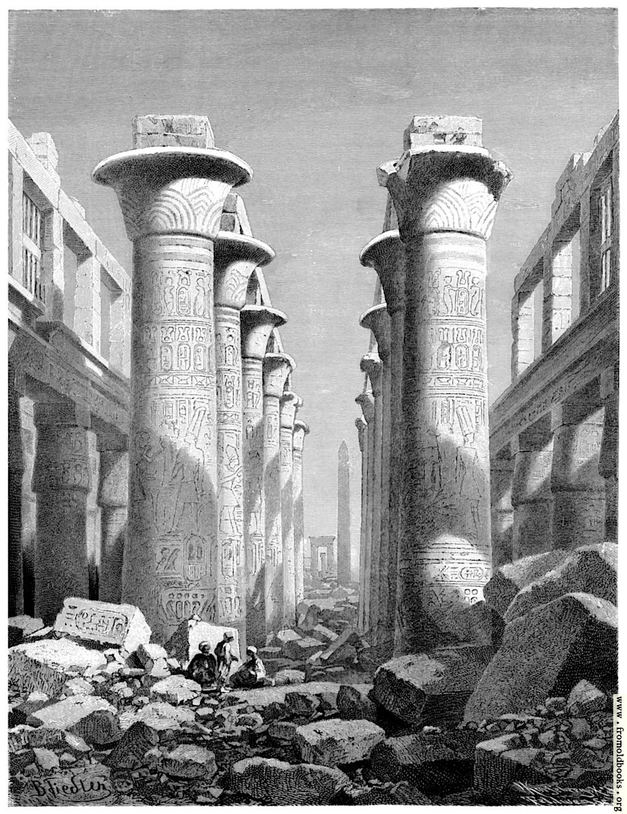 [Picture: Great Hall of Pillars at Karnak.]