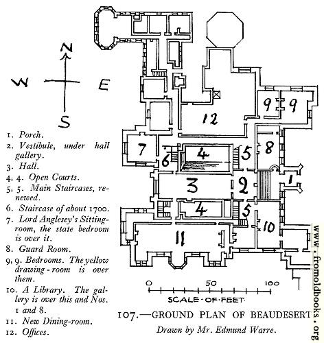 [Picture: 107.—Ground Plan [of Beaudesert]]