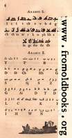Page 4: Arabic: Kufic, Molach (modern) alphabet