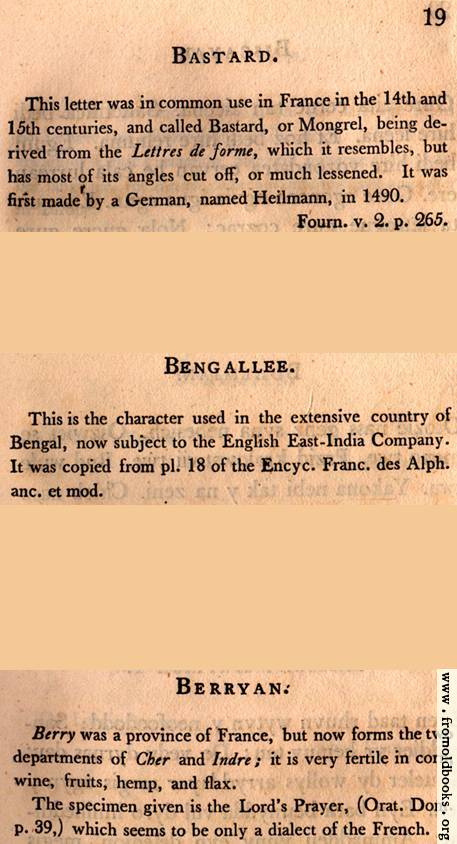[Picture: Page 19: Bastard; Bengallee (Bengali)? (English description)]