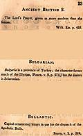 [Picture: Page 23: Ancient British 2; Bulgarian; Bullantic (English description)]