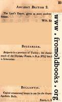 Page 23: Ancient British 2; Bulgarian; Bullantic (English description)