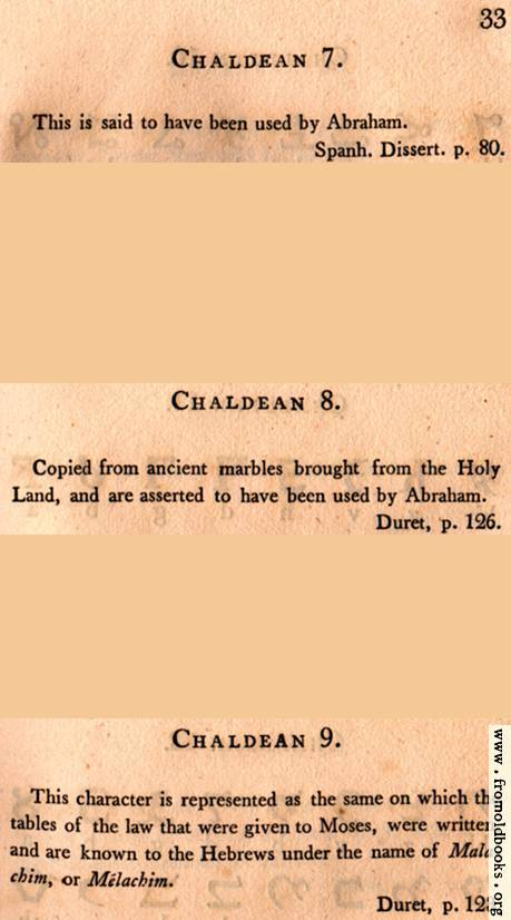 [Picture: Page 33: Chaldean (English description)]