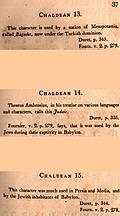 [Picture: Page 37: Chaldean (English description)]