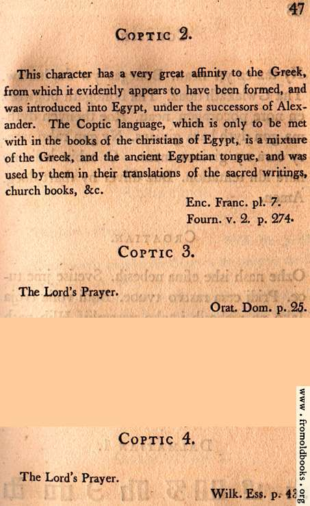 [Picture: Page 47: Coptic (English description)]