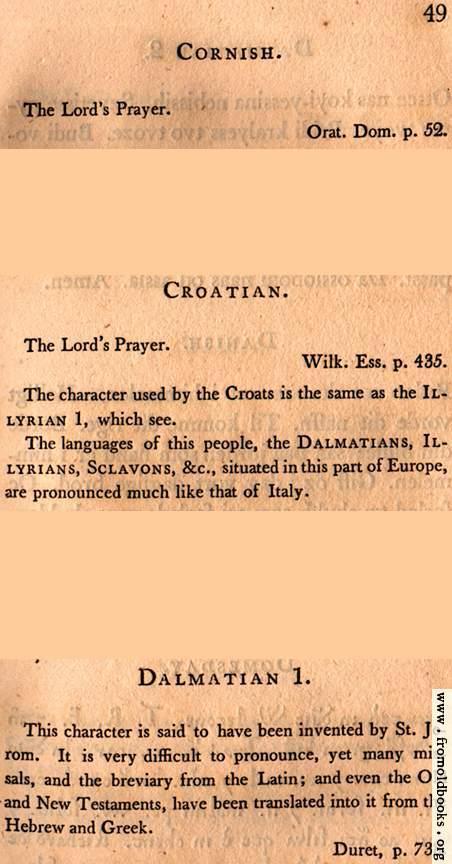 [Picture: Page 49: Cornish; Croatian; Dalmation (English description)]