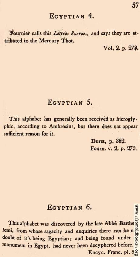 [Picture: Page 57: Egyptian (English descriptions)]