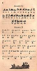 [picture: Page 4: Arabic: Kufic, Molach (modern) alphabet]