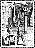 [picture: 4.---Suspended by the feet, and the head beaten with hammers, etc.]