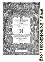 New Testament Title Page