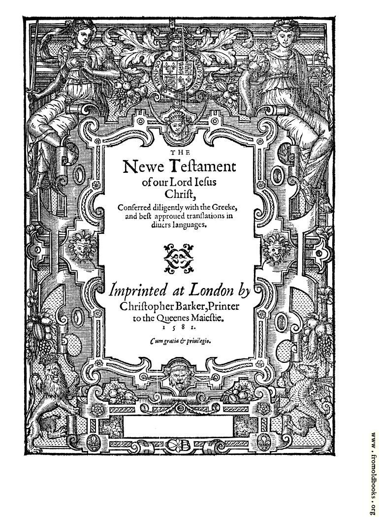 [Picture: New Testament Title Page]