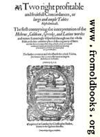 Title page for Concordance