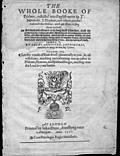 [picture: Title page, The Whole Booke of Psalmes]