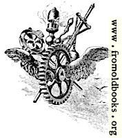 [Picture: Steampunk flying cog]