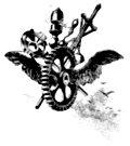 Steampunk flying cog