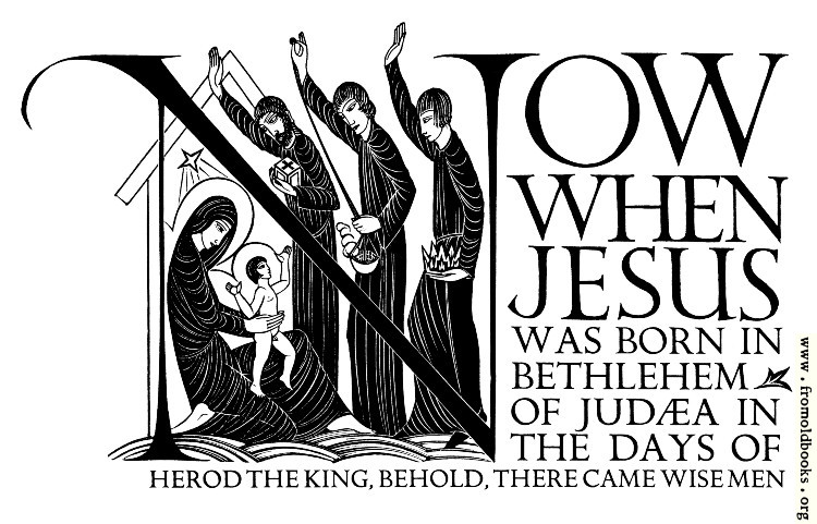 [Picture: Now When Jesus Was Born in Bethlehem]