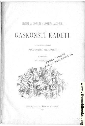 [Picture: Title Page, Gaskonští Kadeti]