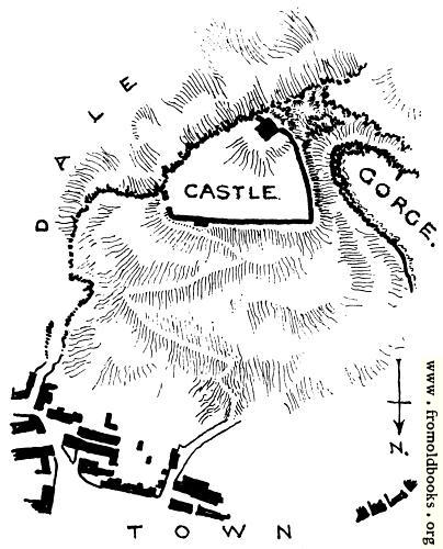 [Picture: Peak Castle, Derbyshire: Plan of the Site.]