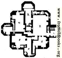 Warkworth Castle, Northumberland: Plan of the Keep