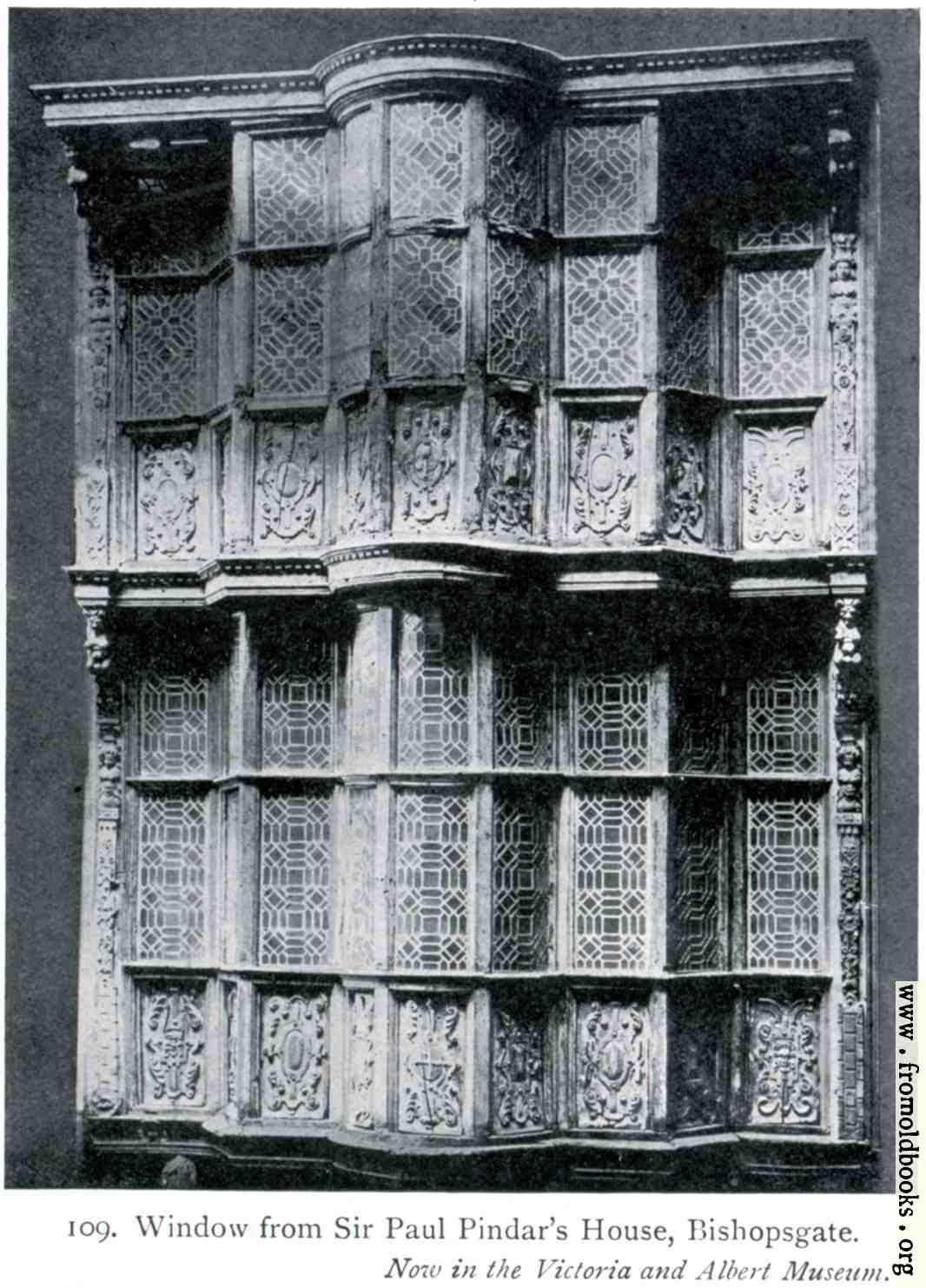 [Picture: Window from Sir Paul Pindar's House, Bishopsgate.]