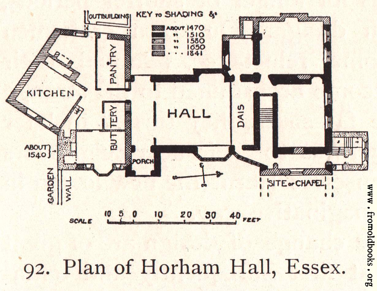 [Picture: Plan of Horham Hall House, Essex]