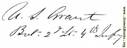 General Grant's signature