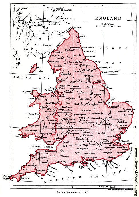 [Picture: Frontispiece: Map of England]