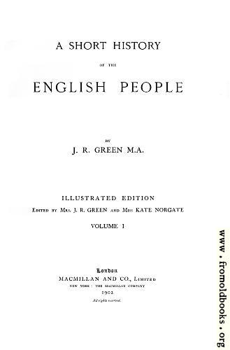 [Picture: Title Page,  A Short History of the English People]