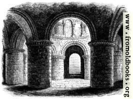 Interior of S. Sepulchre Church, Cambridge.