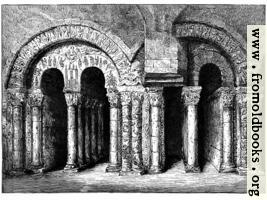 Arches of Cloister of S. Aubin's Abbey, Angers
