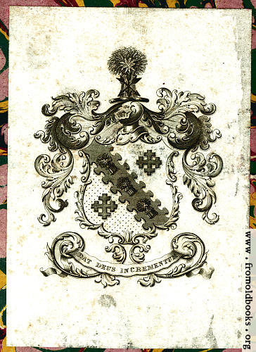 [Picture: Bookplate (ex libris) from Volume III, colour version]
