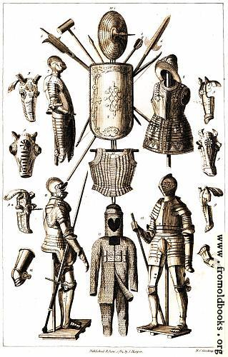 [Picture: Coats of Armor (Armour) and medieval (Mediaeval) weapons]