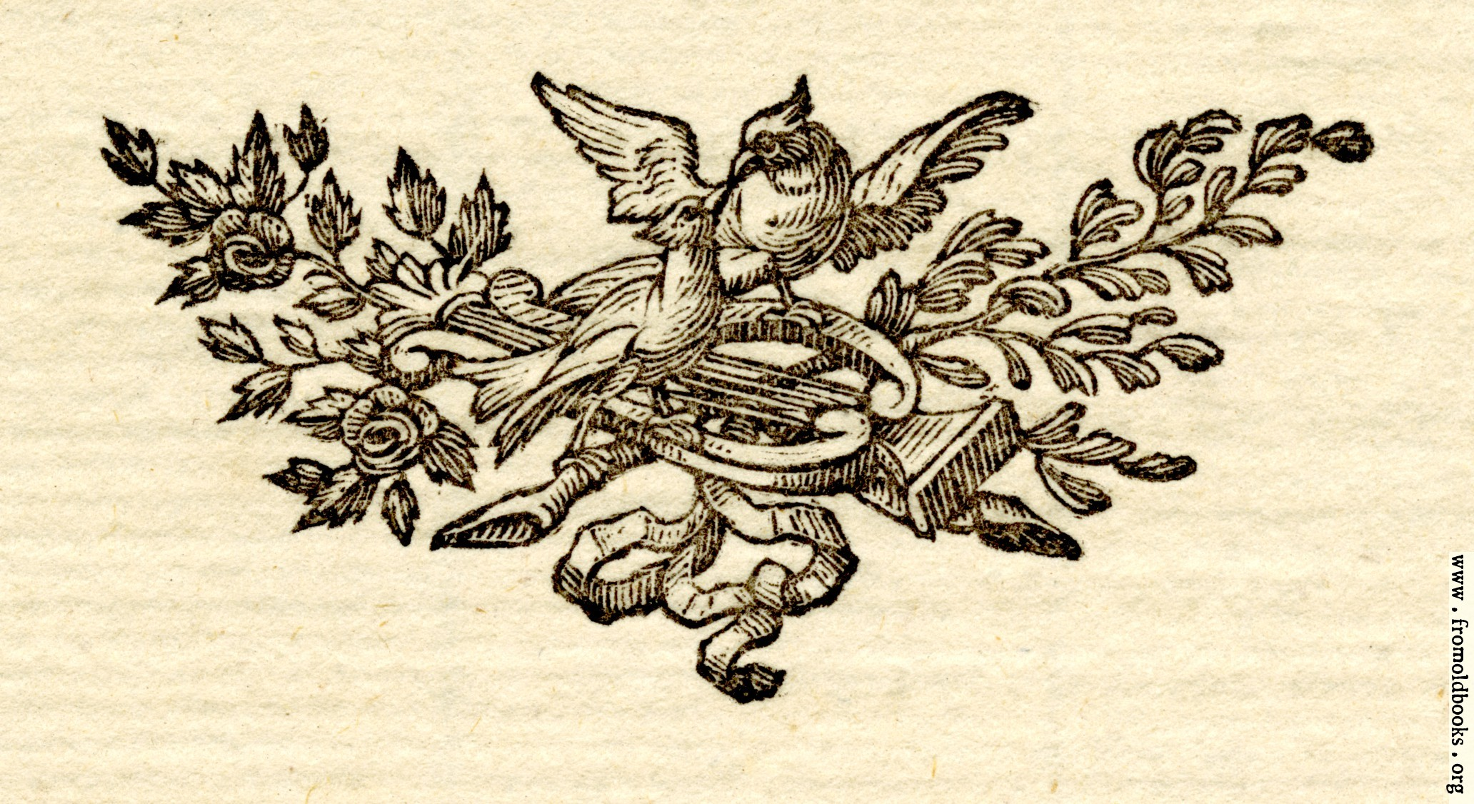 [Picture: Printer's ornament with birds]
