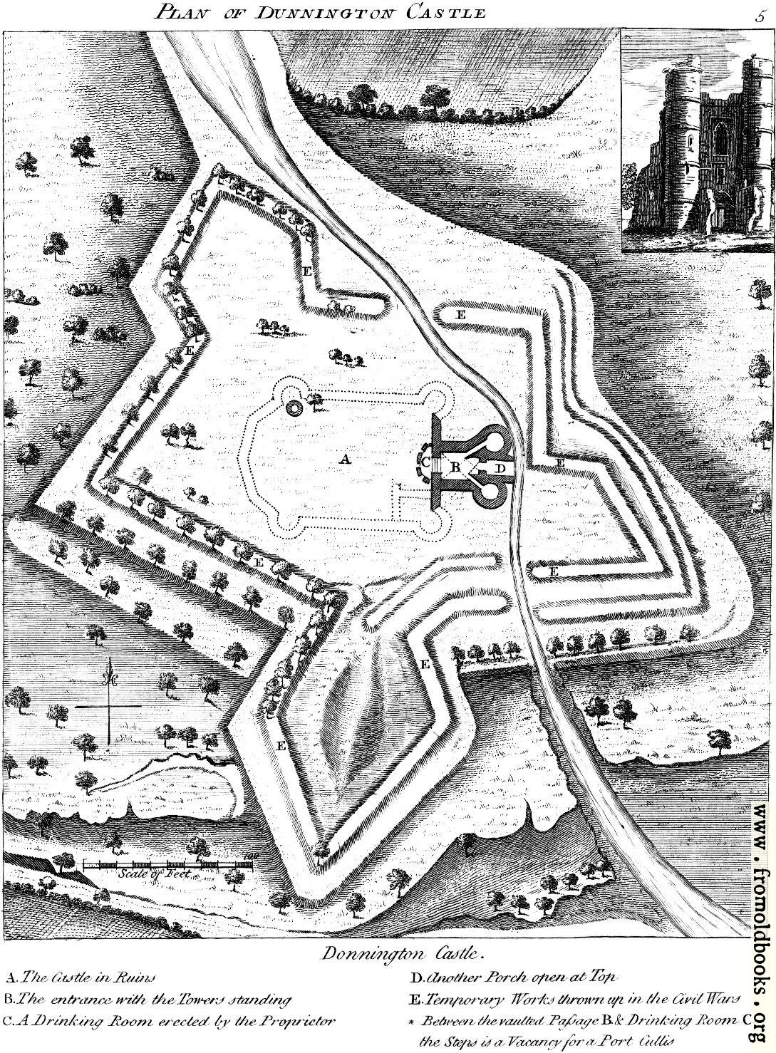 [Picture: Plan of Donnington Castle.]